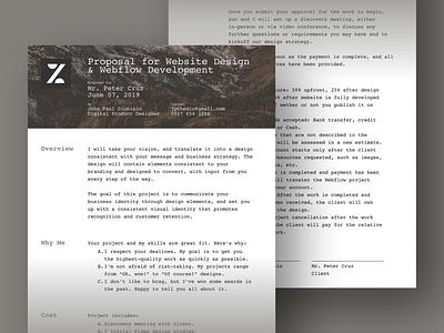 Proposal Template By Jpthedio print proposal pdf branding design ui figma dailyui