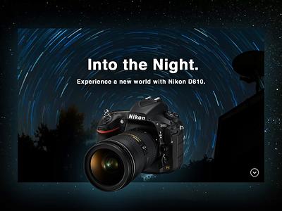 Nikon D810. Camera Website photoshop after effects canon nikon camera website mobile ux branding design ui dailyui