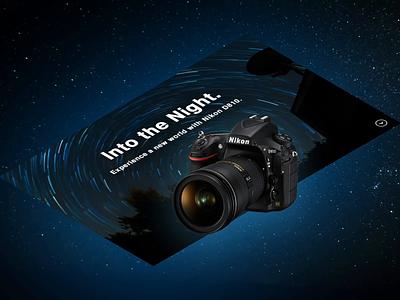 Nikon D810. Camera Isometric Website photoshop after effects website ux branding design ui dailyui
