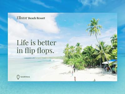 Ellazar Beach Resort web design webflow photoshop after effects website ux branding design ui dailyui