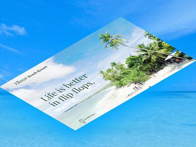Ellazar Beach Resort. Isometric webflow landingpage resort beach isometric photoshop website ux branding design ui dailyui