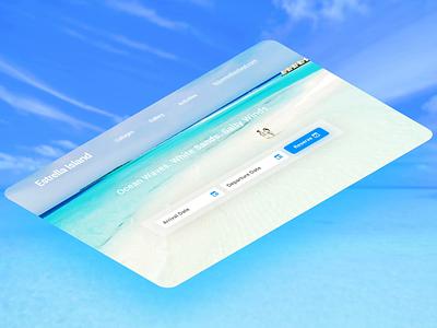 Estrella Island. Isometric isometric dailyui ui design branding ux website after effects beach webflow beautiful photoshop reservation