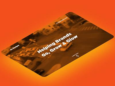 Go Designs. Isometric dailyui ui design branding ux website after effects beach webflow beautiful photoshop
