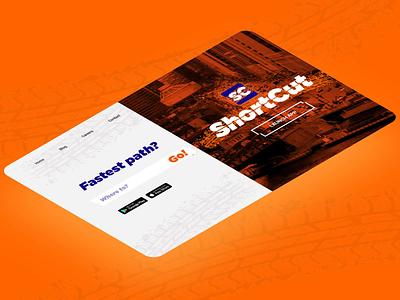 Shortcut. Isometric photoshop beautiful webflow beach after effects website ux branding design ui dailyui