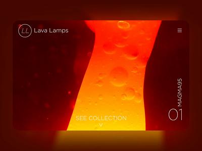 Lava Lamps Website landing page video photoshop webflow beach after effects website ux branding design ui dailyui