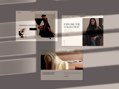 Shadow Overlay With Recent Concepts minimalist website design concept art beauty vision board shadows ui mockup concept design