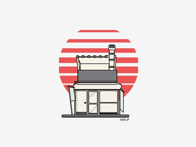 Japanese Storefront vector storefront shop japanese