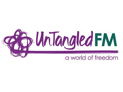 Untangled Fm logo design logo design branding identity logo brush stroke logo