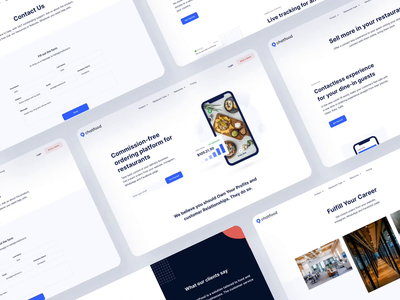 ChatFood - commission-free online ordering analitycs marketing food and drink order management order google facebook instagram social networks web design user experience user inteface ui  ux food delivery restaurant product design b2c website b2b