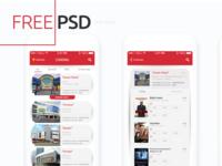 Freebie PSD: Cinema App