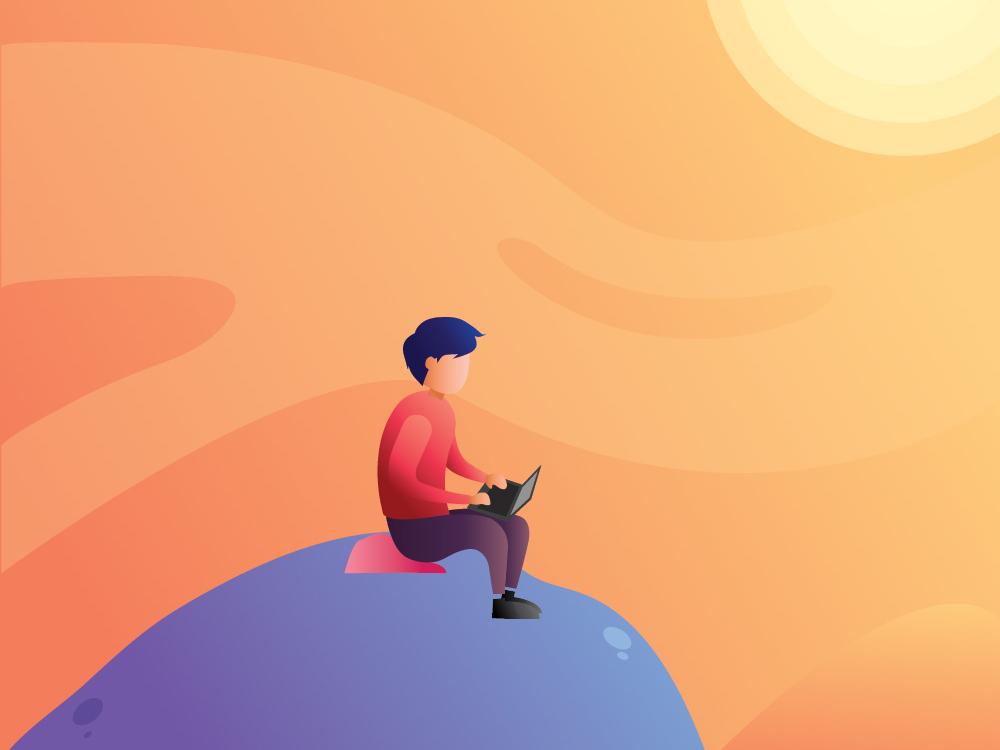 lonely ui illustration illustrator flatdesign