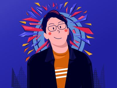 flat illustration of me