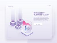 Intelligent Business Cloud Illustration
