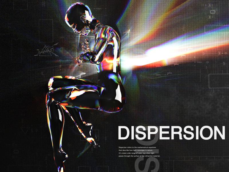 Dispersion redshift typography design art design artwork cinema4d c4d 3d