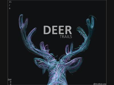 Deer Trails cinema4d artwork illustration design c4d 3d