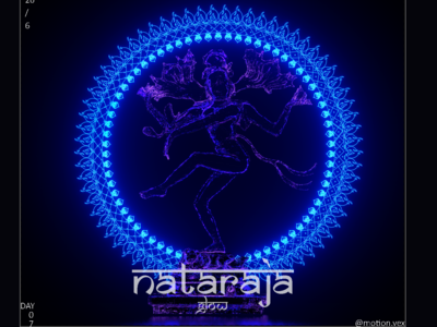 Nataraja Glow dance nataraja shiva vector illustration design glow design art c4d cinema4d artwork 3d
