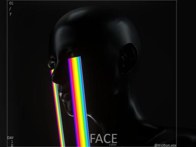 Face Color color rainbow face design art design glow web illustration artwork c4d cinema4d 3d