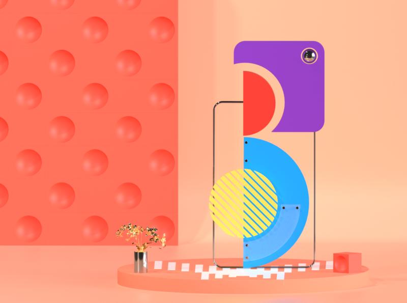 """B"" Illustration alphabetdesign alphabet typography typography vector illustration web design art design artwork cinema4d c4d 3d"