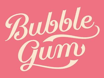 Bubble Gum lettering script