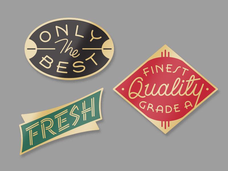Generic Pins pins lettering script