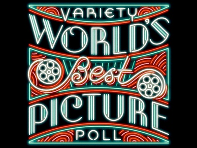 World's Best Picture variety hollywood movies lettering neon script