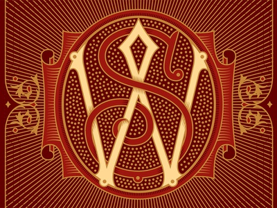 WS Monogram monogram lettering