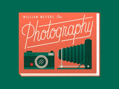 Photography Book cameras lettering illustration editorial
