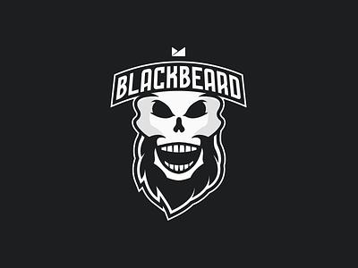 Team Blackbeard skull beard logo blackbeard black
