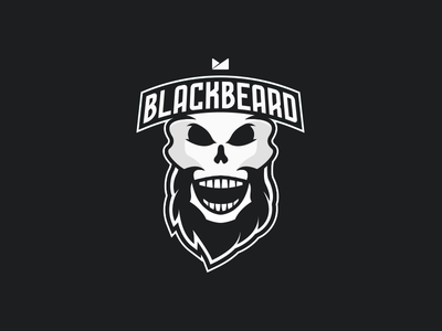 Team Blackbeard skull beard logo blackbeard black