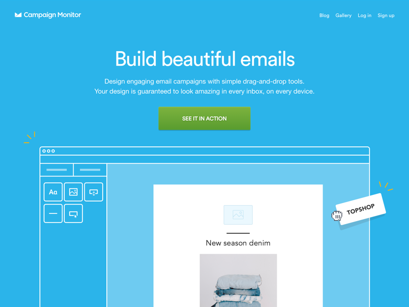 Ship It - Email Builder Landing Page animation
