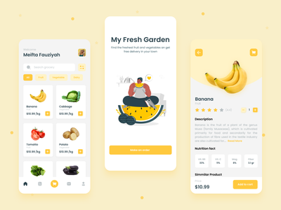 Fresh Market Apps ui mobile fresh market ux mobile