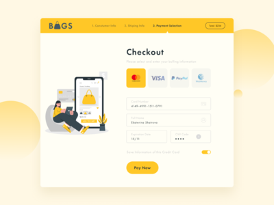 Credit Card Checkout dailyuichallenge dailyui 002 dailyui