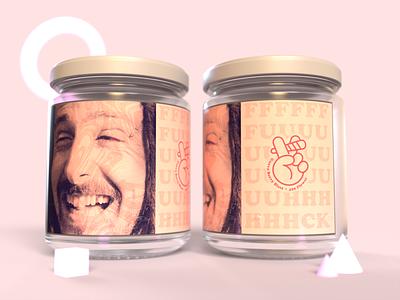 Nug Jars - Growin' Like a Weed dispensary branding dank hippie hippy peace halftone label packaging high stoner stoned joint cannabis marijuana weed