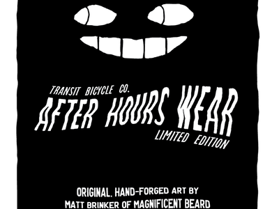 Transit After Hours Packaging transit bike shirt packaging wink after hours screen print behind the counter
