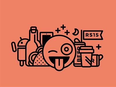RS Shirt shirt torso cover hackathon science emoji booze unicode character