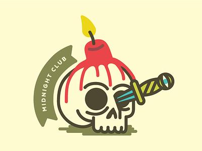 Midnight Club skull stabbing fire illuminati nsa hail satan candle
