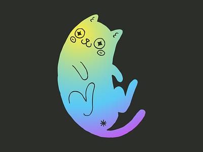 Nyan San  mr. meow meows nyan asterisk gradient cat butthole