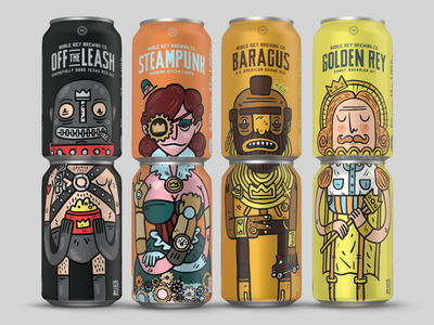 Noble Rey Brewing Co. texas craft beer gears leather daddy lager ale king mr. t steam punk gimp cans beer