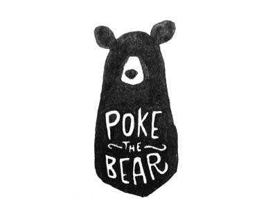 PTB bear poking gross