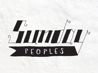 Sunday Peoples sunday peoples bike bikes banner hooray