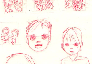sketches for a new cover for classics classics ereader iphone app sketch pencil red boy child cover illustration