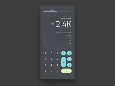 Calculator on Checklist Concept animation app calculate checklist motion calculator ui user experience interface ux microinteraction