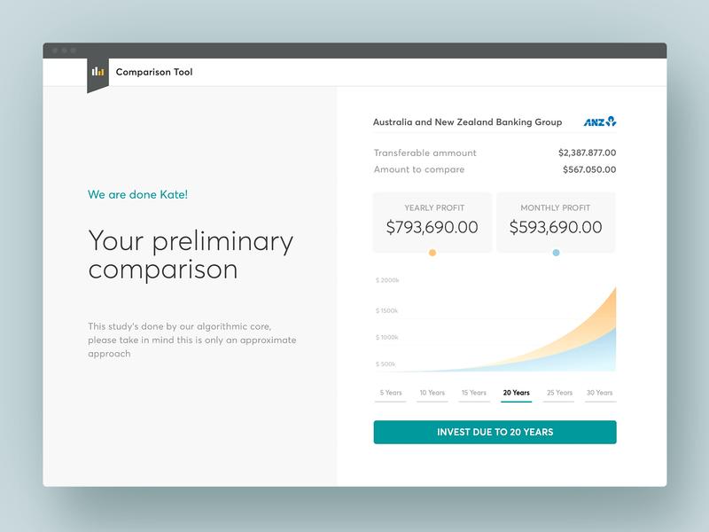 Financial Comparison Tool - Resume website web analitycs graphic chart dashboard design finance tool conversational ui illustration banking interface finance design bank app ux ui
