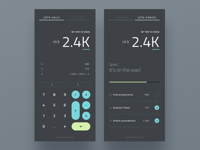 Calculate, Check... Repeat! website web calculator calculator ui calculator app calculate flat minimal interaction interface design app ux ui