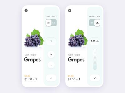 Fruit Store App Qty. Concept