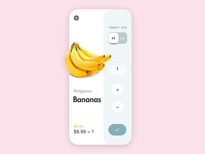Fruit Store App Qty. Concept website flat web store design fruits purchasing shop app e-commerce app e-commerce store app purchase add to cart interaction minimal interface design animation app ux ui