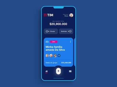 TIM Communications - Digital Banking vector web android ios banking website finance flat bank minimal interface design app ux ui