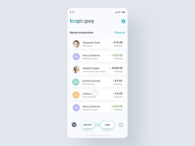 Send/Transfer Money mobile app money transfer money app microinteraction motion web banking website interaction finance bank flat minimal animation interface design app ux ui