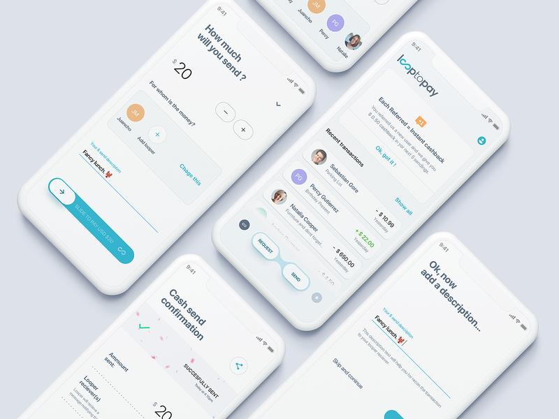 Send/Transfer Money Mobile App web ios banking website finance bank flat minimal interface design app ux ui