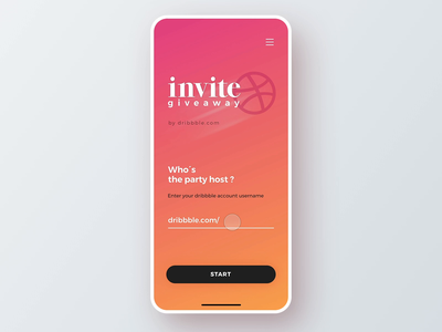 Dribbble Invite Giveaway microinteraction giveaway dribbble invite giveaway dribbble giveaway invite dribbble invitation dribbble invites dribbble invite motion web interaction flat minimal animation interface design app ux ui
